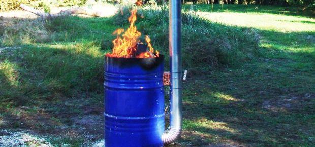 Niedrigbrand im Tonnenofen